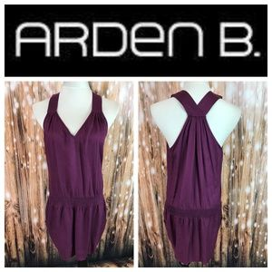 🆕 Arden B. Mulberry Racerback Smocked Hip Dress